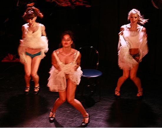 Callie Carter, Sabra Lewis and Simone De La Rue