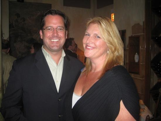 David New (Associate Artistic Director, Steppenwolf Theatre) and Bridget Carpenter Photo