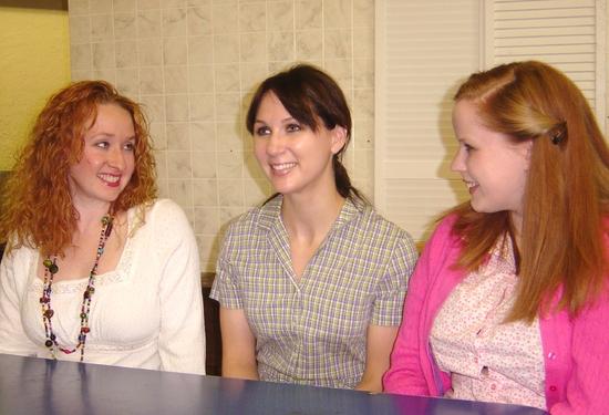 Mindy Heithaus (Meg), Kate Glasheen (Lenny) and Kelsey Celek (Babe)