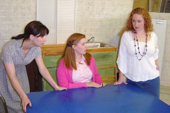 Kate Glasheen (Lenny) and Kelsey Celek (Babe) and Mindy Heithaus (Meg)