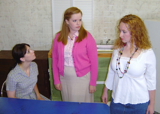 Kate Glasheen (Lenny) and Kelsey Celek (Babe) and Mindy Heithaus (Meg) Photo