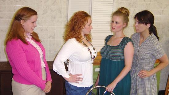 Kelsey Celek (Babe), Mindy Heithaus (Meg), Tess Talbot (Chick) and Kate Glasheen (Len Photo