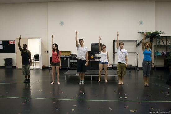 Justin Thompson (Chad Danforth), Kira-Jade (Sharpay Evans), Hani Zakaria (Troy Bolton), Nikki Ponte (Gabriella Montez), Jake Forrer (Ryan Evans) and Jazz Testolini (Taylor McKessie)