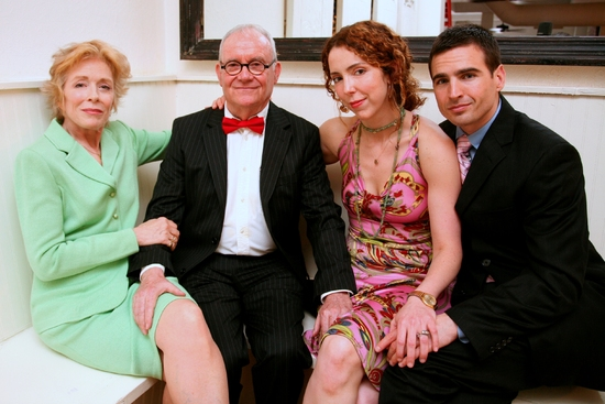 Holland Taylor, Buck Henry, Lisa Ebersole, and Haskell King