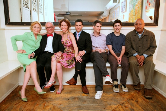 Holland Taylor, Buck Henry, Lisa Ebersole, Haskell King, director Andrew Grosso, David Rosenblatt, and Keith Randolph Smith