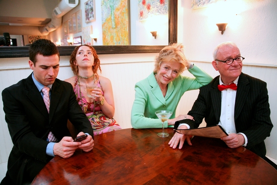 Haskell King, Lisa Ebersole, Holland Taylor, and Buck Henry