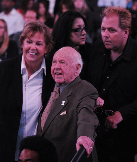 Jan Rooney and Mickey Rooney at The Michael Jackson Public Memorial Service