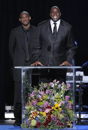 Kobe Bryant and Earvin 'Magic' Johnson, Jr.