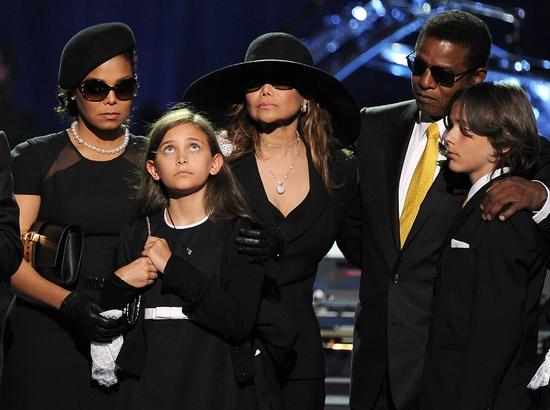 Janet Jackson, Paris Jackson, La Toya Jackson, Randy Jackson and Prince Michael I