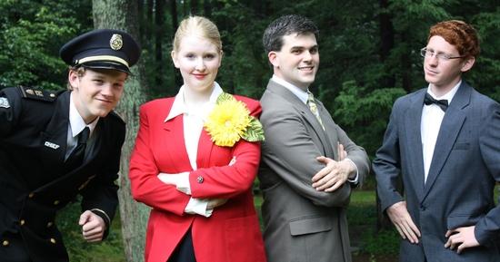 Elise Pratt with Johnny Fullerton, Matthew Timmons, and Matt Hawley