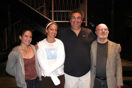 Director Larissa Lory,Producer Deanna Henson, playwright Jeff Cohen and producer Pat Blake