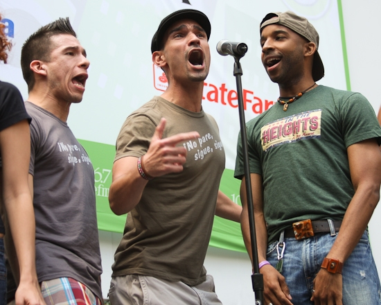 Javier Munoz and the cast of In The Heights