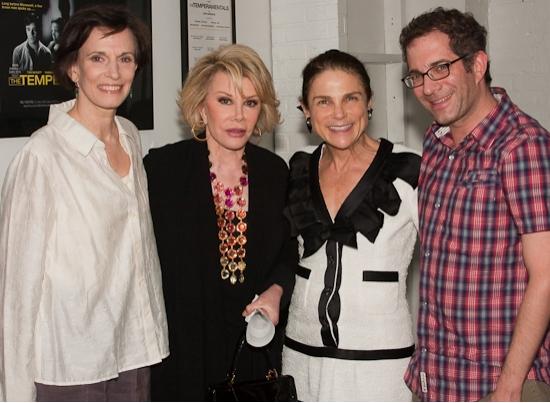 Tandy Cronyn, Joan Rivers, Tovah Feldshuh, and director Jonathan Silverstein