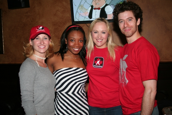Melissa Lome, Amber Owens, Laura Schutter and Sam Strasfeld at 'Broadway' Celebrates Canada Day 2009