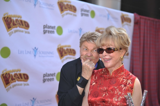 Rip Taylor and Barbara Eden