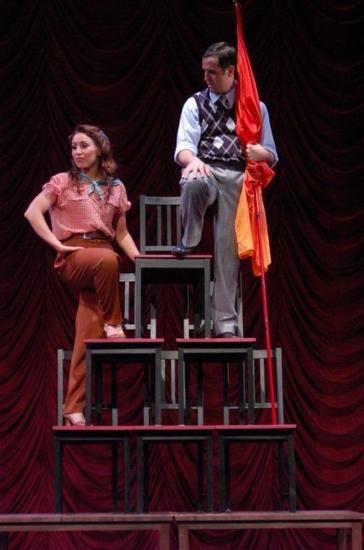 Pilar Millhollen and Eric Santagata at CRAZY FOR YOU at the John W. Engeman Theater