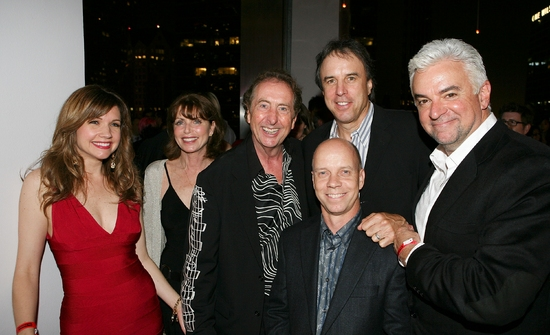 Eric Idle, Kevin Nealon, Olympic skater Scott Hamilton, guests and John O'Hurley