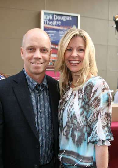 Scott Hamilton and wife Tracie Robinson at 'MONTY PYTHON'S SPAMALOT' Opens at the Ahmanson Theatre
