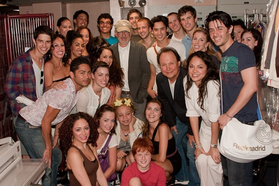 Josefina Scaglione, Cody Green, Steven Spielberg, Billy Crystal, Karen Olivo, Matt Cavenaugh, George Akram and the cast of WEST SIDE STORY