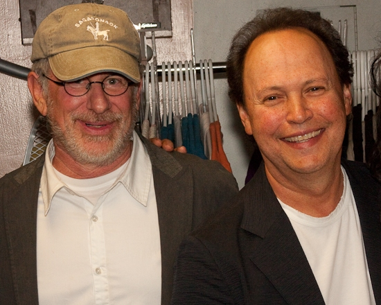 Photo Coverage: Steven Spielberg and Billy Crystal Visit Backstage At Broadway's WEST SIDE STORY
