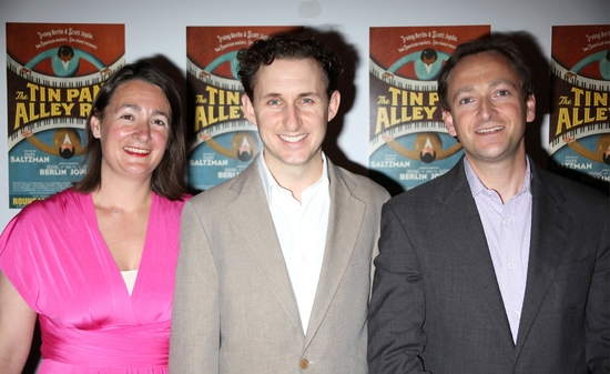 Michael Therriault with Irving Berlin's grandchildren at 'THE TIN PAN ALLEY RAG' - After Party