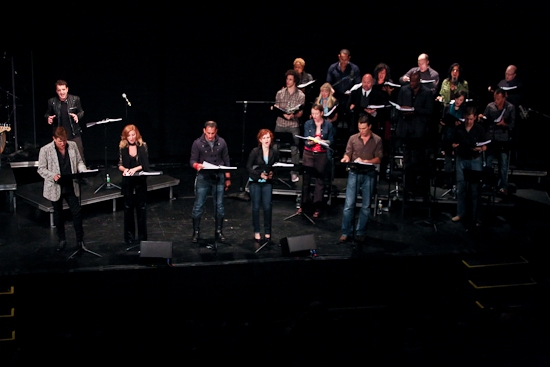 Euan Morton, David Edwards, Anastasia Barzee, Autumn Hurlbert, Matt Bogart and the cast