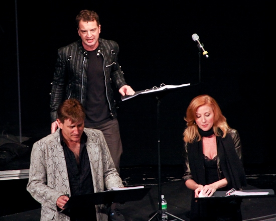 Euan Morton, David Edwards and Anastasia Barzee