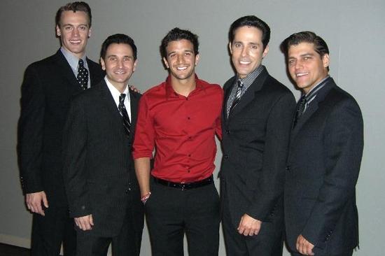 JERSEY BOYS Las Vegas - Erich Bergen, Travis Cloer, Mark Ballas, Jeff Leibow and Deve Photo