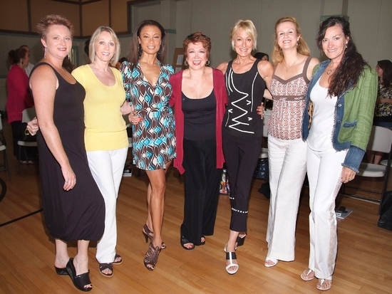 The Hot Box Girls with choreographer Donna McKechnie, L-R, Jane Lanier, Kathryn Wright,Valarie Pettiford, Donna McKechnie, Sandahl Berman, Tracy Powell, and Chelsea Fields