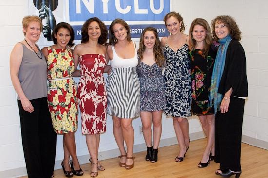 Liz Callaway, Daphne Rubin-Vega, Jen Bender, Liana Stampur, Dana Steingold, Laura Osnes, Celia Keenan-Bolger, and Donna Lieberman