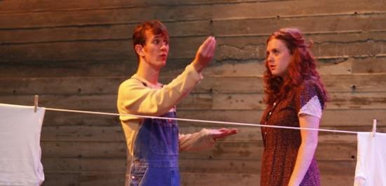 Garrett Zuercher and Dana Berger