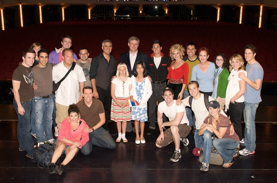 Taylor Hicks, Prime Minister Stephen Harper and the Cast of GREASE