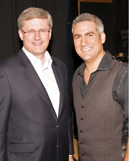 Prime Minister Stephen Harper and Taylor Hicks