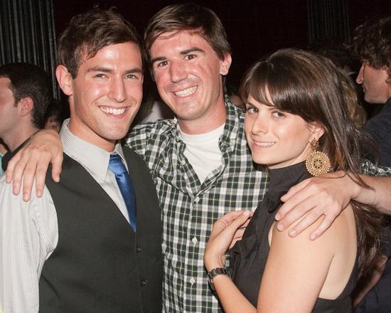 Morgan Karr with producers Joey Oliva and Sara Katz