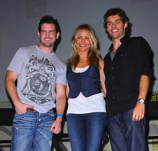 Richard Kelly, Cameron Diaz and James Marsden Photo