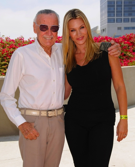 Stan Lee and Natasha Henstridge