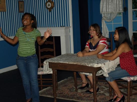 Sakile Lyles, Kathryn Binney, and Gabby Laxamana