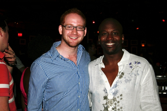 David Alpert and Tituss Burgess at Tituss Burgess Brings 'HOW I HEAR IT' To Birdland