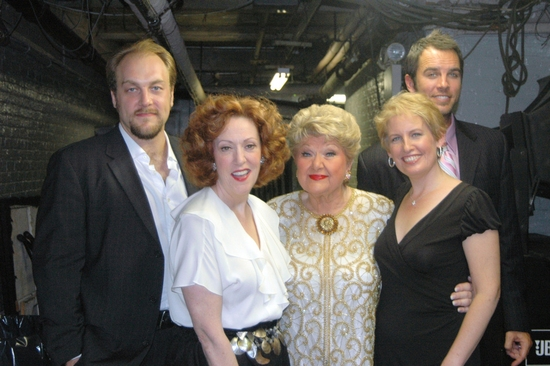Alexander Gemignani, Karen Murphy, Marilyn Maye, Liz Callaway, and Douglas Ladnier