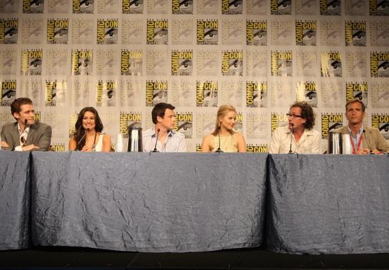 Matthew Morrison, Lea Michele, Cory Monteith, Dianna Agron, Executive Producers Ian Brennan and Dante Di Loreto