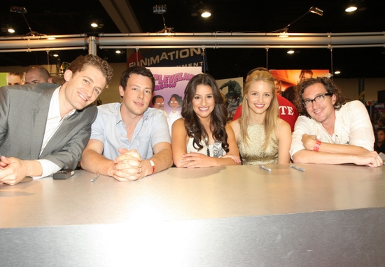 Matthew Morrison, Cory Monteith, Lea Michele, Dianna Agron and Executive Producer Ian Brennan
