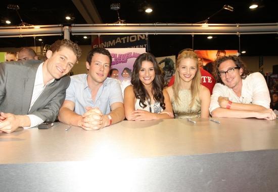 Matthew Morrison, Cory Monteith, Lea Michele, Dianna Agron and Executive Producer Ian Photo