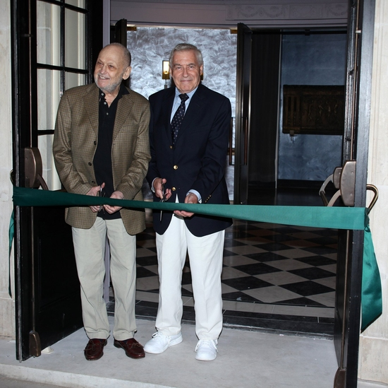 Charles Strouse and Lee Adams at 'BYE BYE BIRDIE' Celebrates at the New Henry Miller's Theatre Ribbon Cutting Ceremony