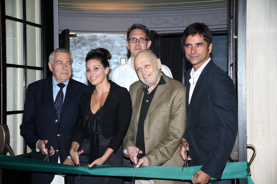 Lee Adams, Gina Gershon, Robert Longbottom, Charles Strouse and John Stamos