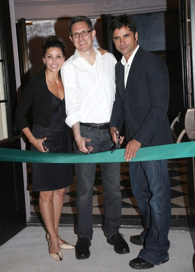 Gina Gershon, Robert Longbottom and John Stamos