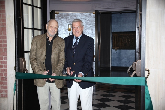 Charles Strouse and Lee Adams attend the Ribbon Cutting Ceremony for the New Henry Mi Photo