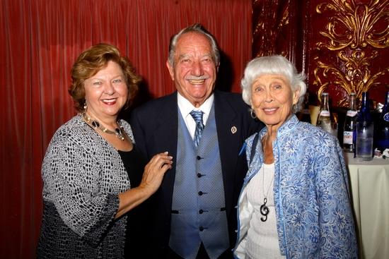 Arlene and Milt Larsen with Betty Garrett