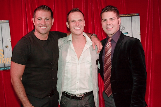 Matthew Corozine, Jason Mitchell and Justin Allen Pifer at THE BOYS UPSTAIRS Sneak Peek Benefit at Soho House