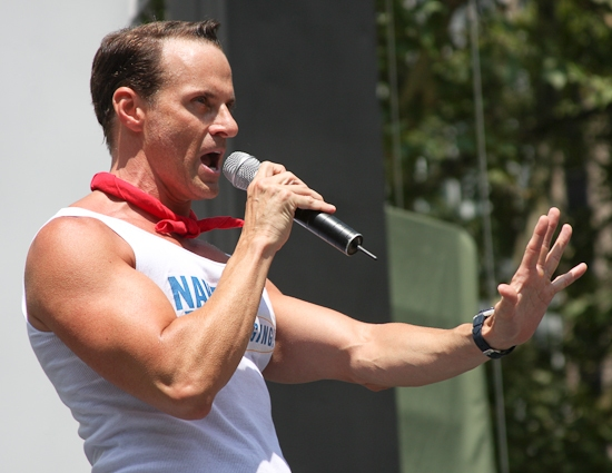 Chris Layton at 'SHREK', 'NAKED', CHICAGO And JERSEY BOYS Perform At 'BROADWAY IN BRYANT PARK'