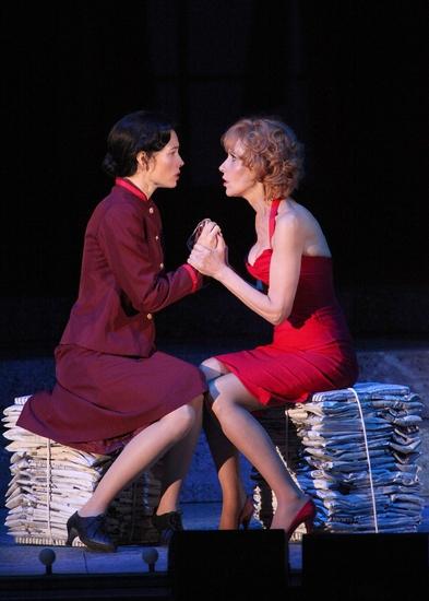 "Jessica Biel as ""Sarah Brown""� and Ellen Greene as ""Miss Adelaide"""